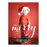 O feriado alegre deseja o cartão com fotos do convites personalizados