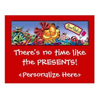 O feriado de Garfield Logobox apresenta cartão Cartões Postais