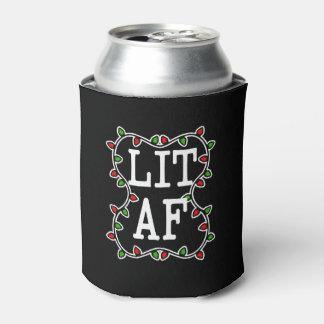 O feriado engraçado das luzes de Natal do AF do Porta-lata