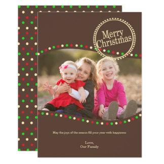 O feriado ilumina o cumprimento liso do cartão da