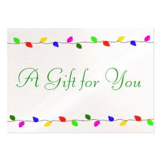 O feriado ilumina o negócio incorporado do cartão de visita grande