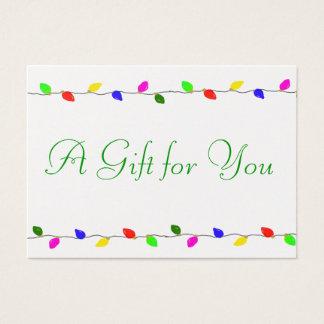 O feriado ilumina o negócio incorporado do cartão de visitas