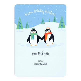O feriado morno deseja o cartão do feriado