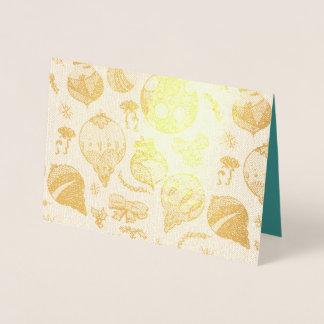 O feriado Ornaments o cartão da folha