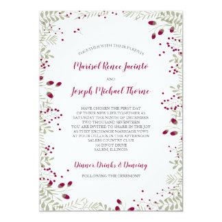 O feriado ramifica convite do casamento