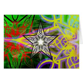 O feriado Stars o cartão