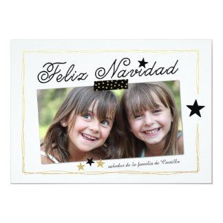 O feriado Stars o cartão espanhol do feriado da Convite 12.7 X 17.78cm
