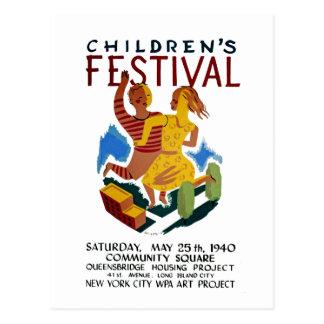 O festival das crianças cartão postal