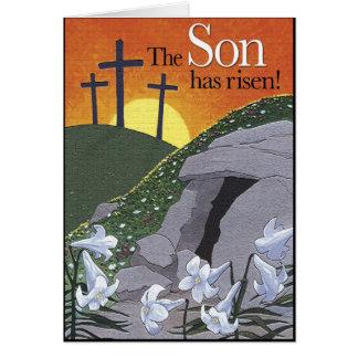 O filho aumentou! Cartão de páscoa