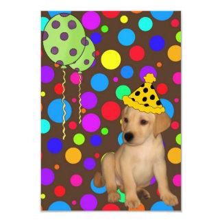 O filhote de cachorro de Labrador da festa de Convite 8.89 X 12.7cm