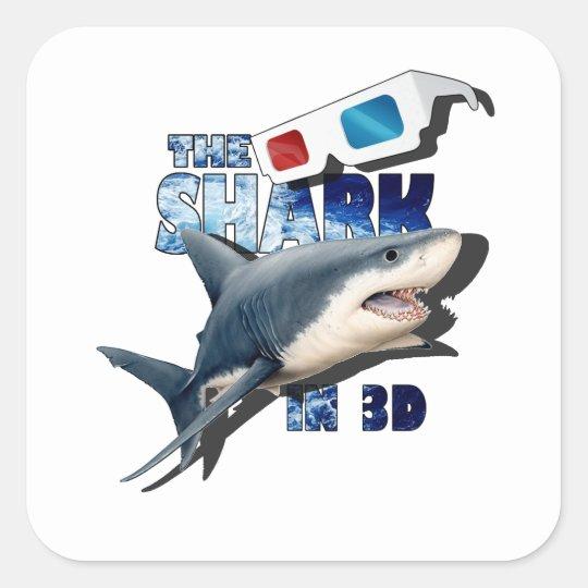 O filme do tubarão adesivo quadrado