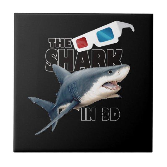 O filme do tubarão azulejo quadrado pequeno