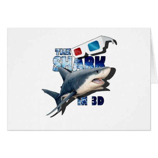 O filme do tubarão cartão comemorativo