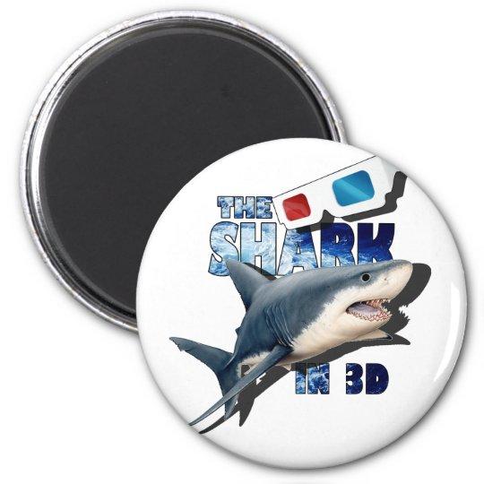 O filme do tubarão ímã redondo 5.08cm