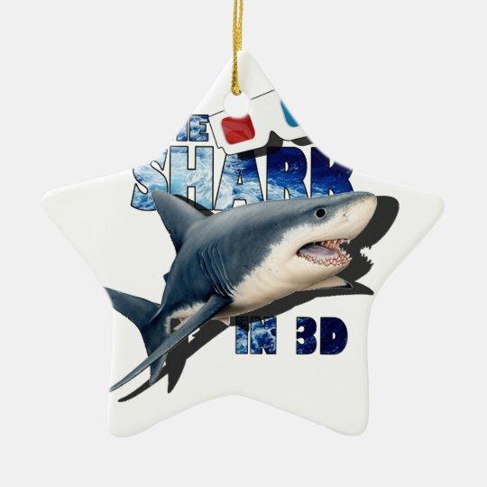 O filme do tubarão ornamento de cerâmica estrela