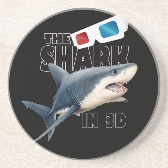 O filme do tubarão porta copos de arenito