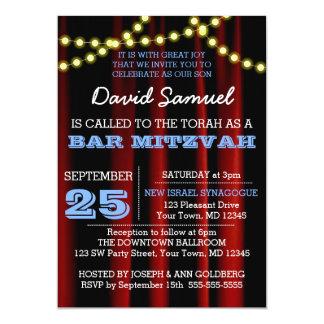 O filme ilumina o convite azul de Mitzvah do bar