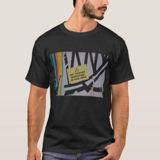 O fim na moda abstrato acima da arte dos grafites camiseta