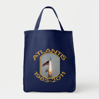 O final de Atlantis do vaivém espacial tira a foto Sacola Tote De Mercado
