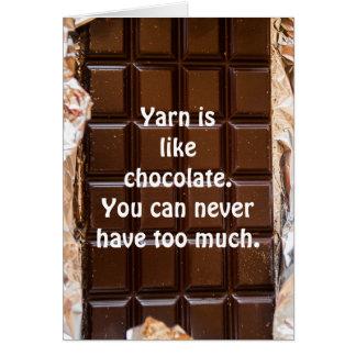 O fio é como o chocolate, cartão engraçado, fio