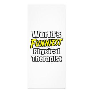 O fisioterapeuta o mais engraçado do mundo modelo de panfleto informativo
