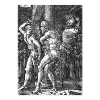 O Flagellation por Albrecht Durer Convite