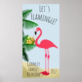 O flamingo deixou-nos poster da reunião de família