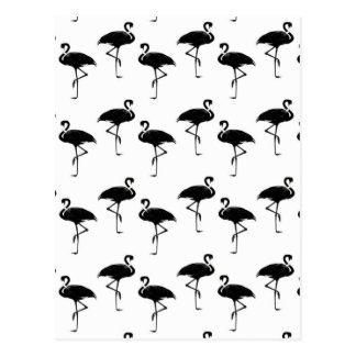 O flamingo mostra em silhueta o branco preto do cartão postal