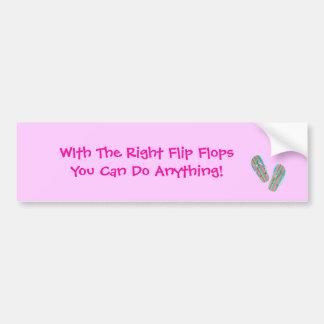 o flip-flop, com o sacudir direito FlopsYou pode f Adesivo Para Carro