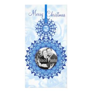 O floco de neve do Feliz Natal Ornaments o modelo Cartão