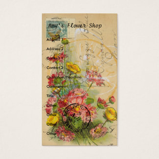 O florista do Amy Cartão De Visitas