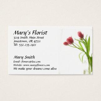 O florista floresce o cartão de visita