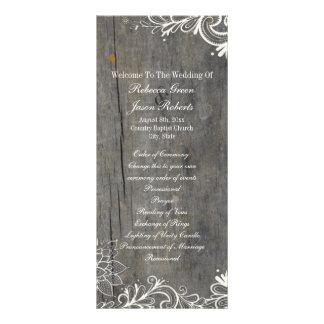 o flourish roda os programas de madeira do 10.16 x 22.86cm panfleto