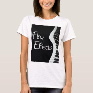 O fluxo efetua o piano camiseta