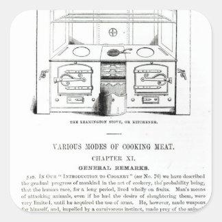 O fogão de Leamington, ou Kitchener Adesivo Quadrado