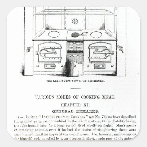 O fogão de Leamington, ou Kitchener Adesivos Quadrados