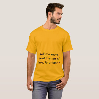 o fogo de jesus camiseta