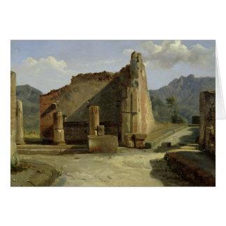 O fórum de Pompeii Cartão Comemorativo