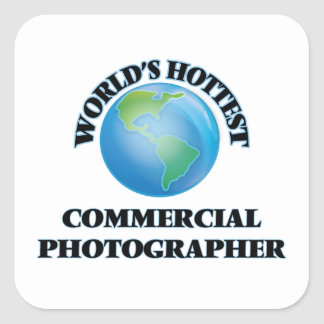 O fotógrafo comercial o mais quente do mundo adesivo quadrado