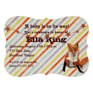 O Fox ambarino listra o convite do chá de fraldas