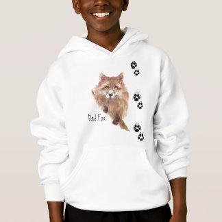 O Fox bonito segue o Hoodie animal
