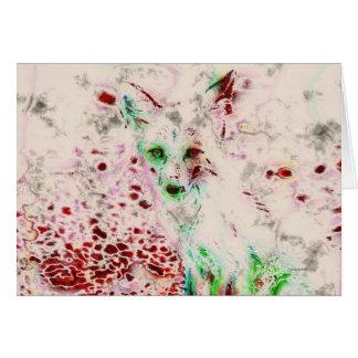 O Fox do fantasma Eyes o cartão vermelho e branco