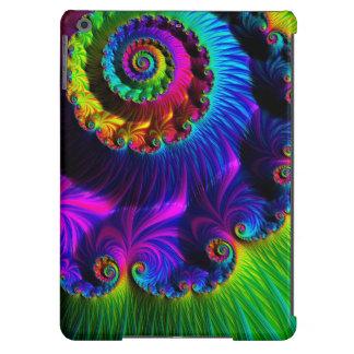 O Fractal lindo do arco-íris Twirls o caso de BT d Capa Para iPad Air