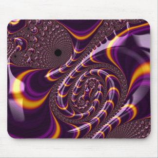 O Fractal roxo preto Trippy Twirls a decoração da