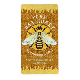 O frasco do mel do Apiary da abelha etiqueta a