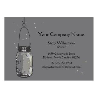 O frasco & os vaga-lume de pedreiro do vintage sal modelos cartões de visita