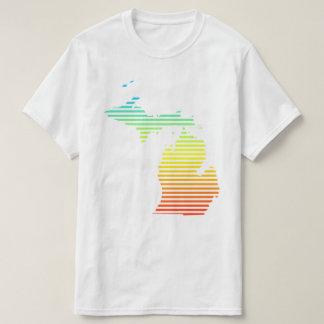 o frio de michigan desvanece-se camiseta