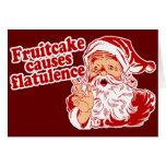 O Fruitcake causa a flatulência Cartões