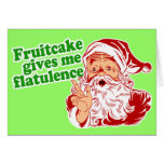 O Fruitcake faz o papai noel Fart Cartões