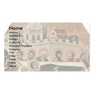 O funeral de Mary por Duccio Di Buoninsegna Modelo De Cartões De Visita